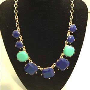 Blue & Turquoise Deco Necklace